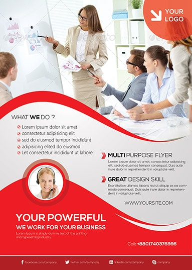 Corporate Flyer Template  Arabic Vision