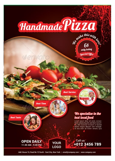 pizza sale flyer template - pizza food flyer template arabic vision