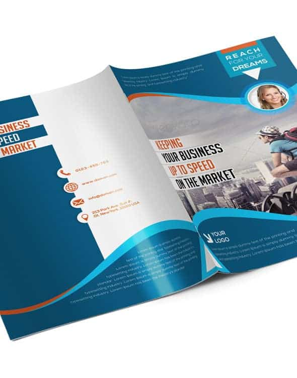 bi fold brochure template 4 pages arabic vision